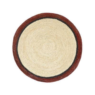 Set de table Globe / Raphia tressé main - Maison Sarah Lavoine rouge,naturel en fibre végétale
