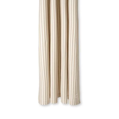 Accessories - Bathroom Accessories - Chambray Striped Shower curtain - / 160 x H 205 cm - Coated cotton by Ferm Living - Striped / Sand & off-white - Coated cotton
