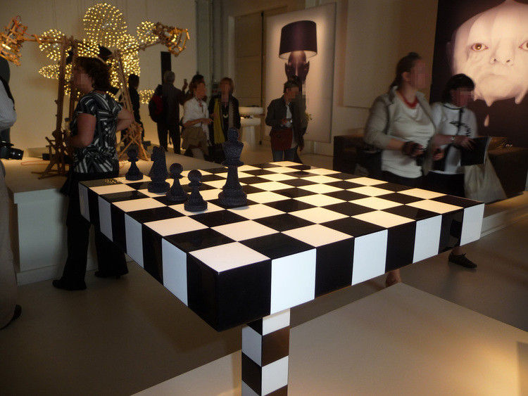 Small Table Chess Table By Moooi White Black Made In