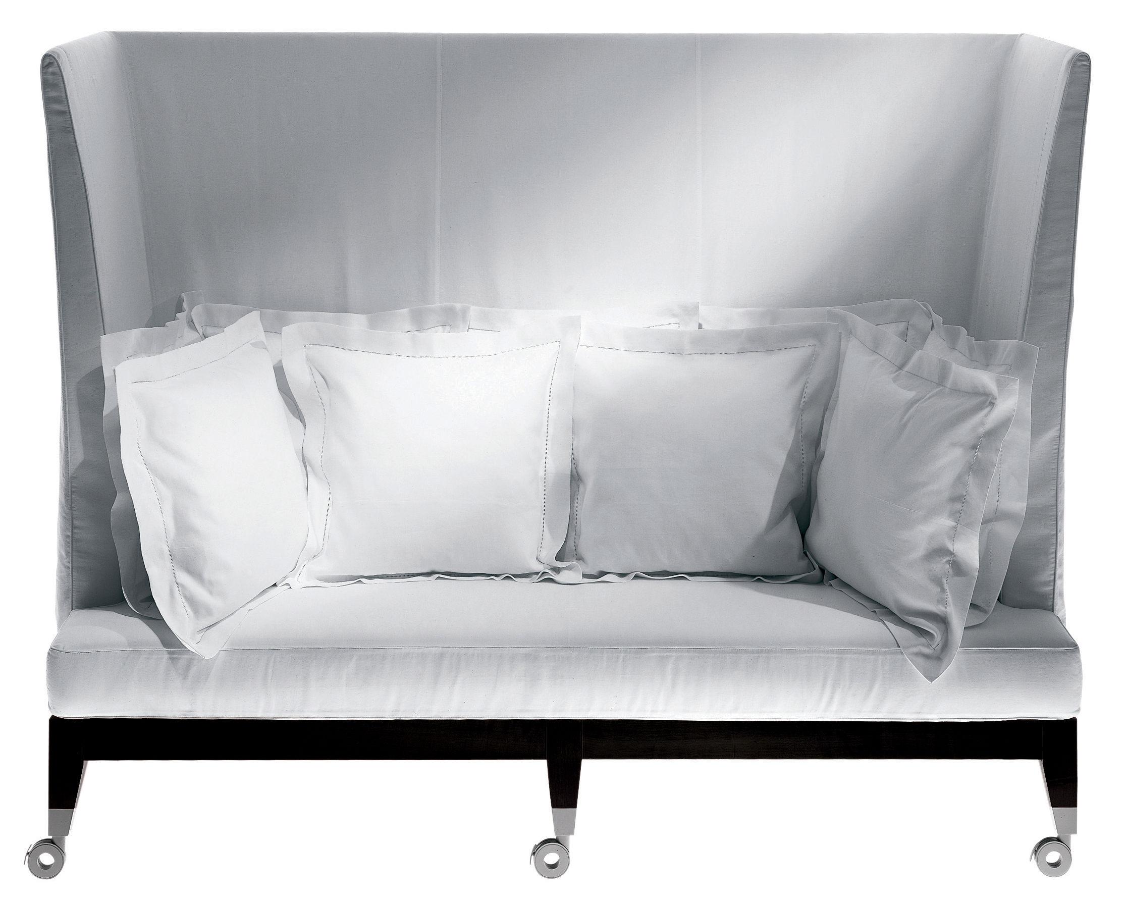 Leinen Möbel Sofas Neoz Sofa Hohe Lehne Driade Ebenholz Aluminium