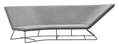 Ultrasofa Sofa / outdoorgeeignet - 3-Sitzer, L 300 cm - Fermob - Perlgrau,Karbon