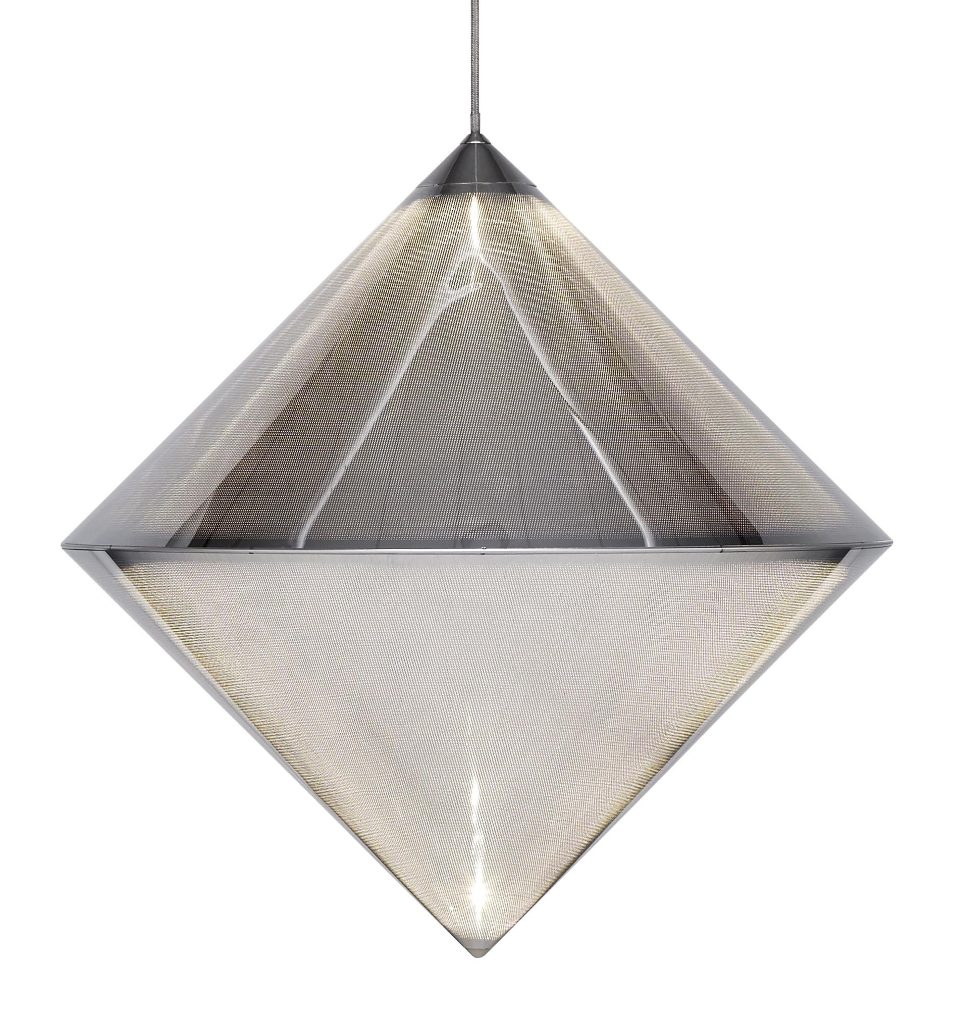 Illuminazione - Lampadari - Sospensione Top - / LED - Acciaio micro-perforato di Tom Dixon - Cromato - Acciaio microperforato