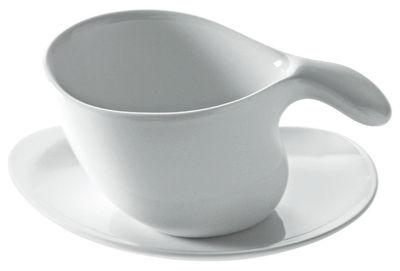 Soucoupe pour tasse à café ou thé Bettina - Alessi blanc en céramique