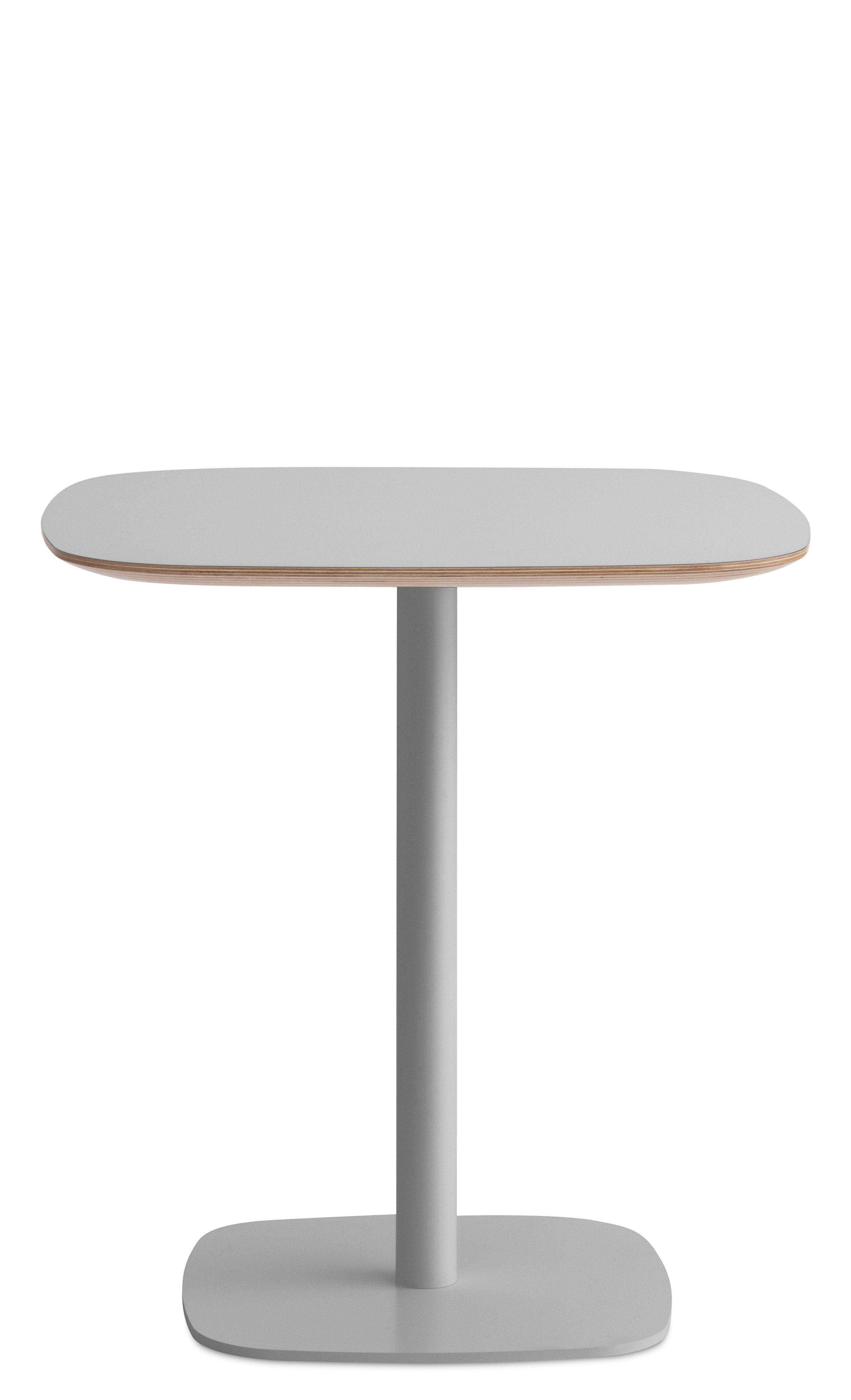 Furniture - Dining Tables - Form Square table - 70 x 70 cm by Normann Copenhagen - Grey - Lacquered oak, Lacquered steel, Linoleum coated oak