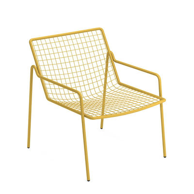 Furniture - Armchairs - Rio R50 Stackable low armchair - / Metal by Emu - Curry Yellow - Steel