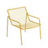 Rio R50 Stackable low armchair - / Metal by Emu