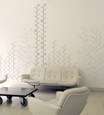 Decoration - Wallpaper & Wall Stickers - Graphic plant Sticker by Domestic - Silver - Vinal