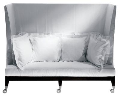 Furniture - Sofas - Neoz Straight sofa - High backrest by Driade - Ebony - Aluminium, Linen, Mahogany