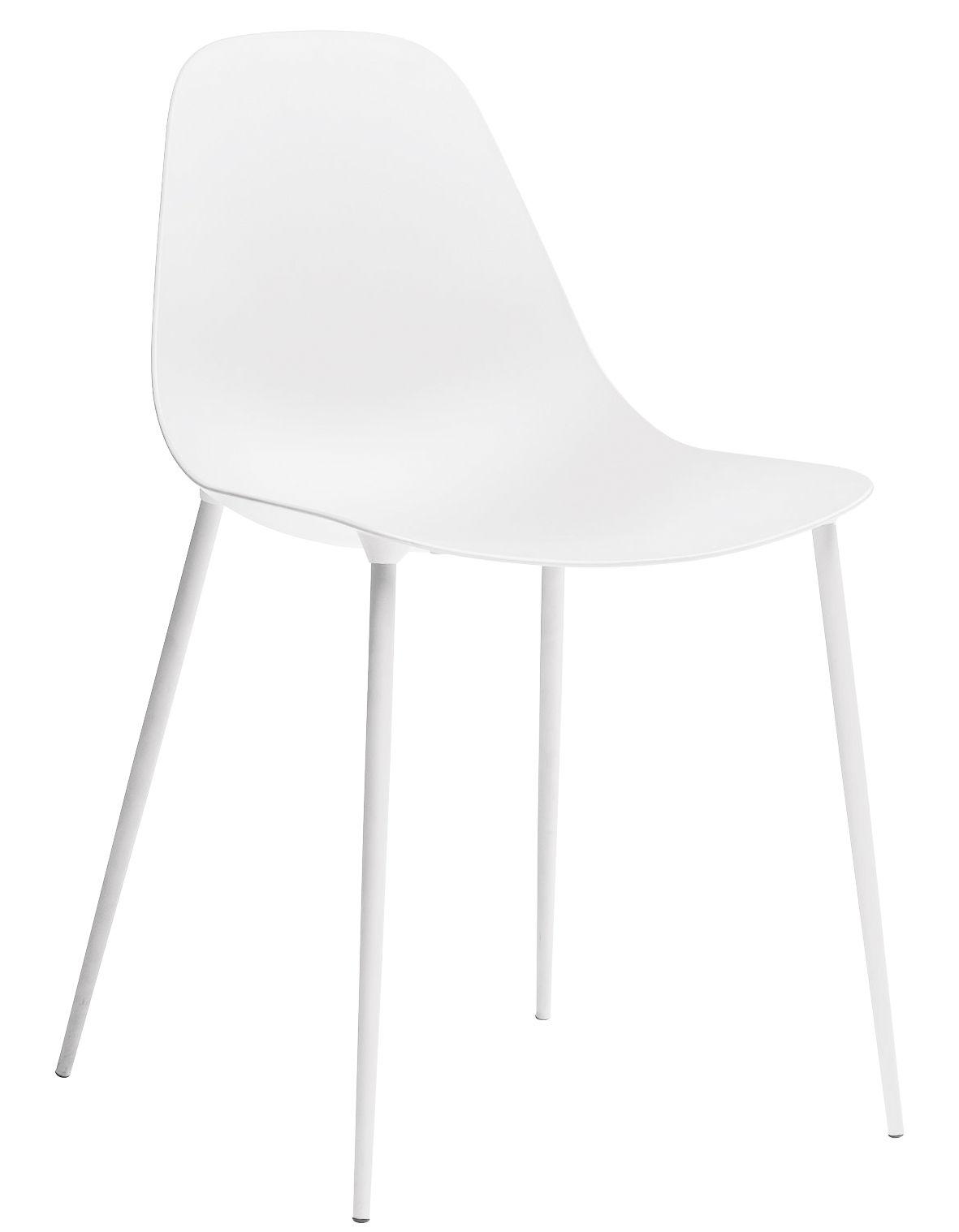 Möbel - Stühle  - Mammamia Stuhl / Sitzschale & Stuhlbeine Metall - Opinion Ciatti - Weiß - Aluminium, Metall