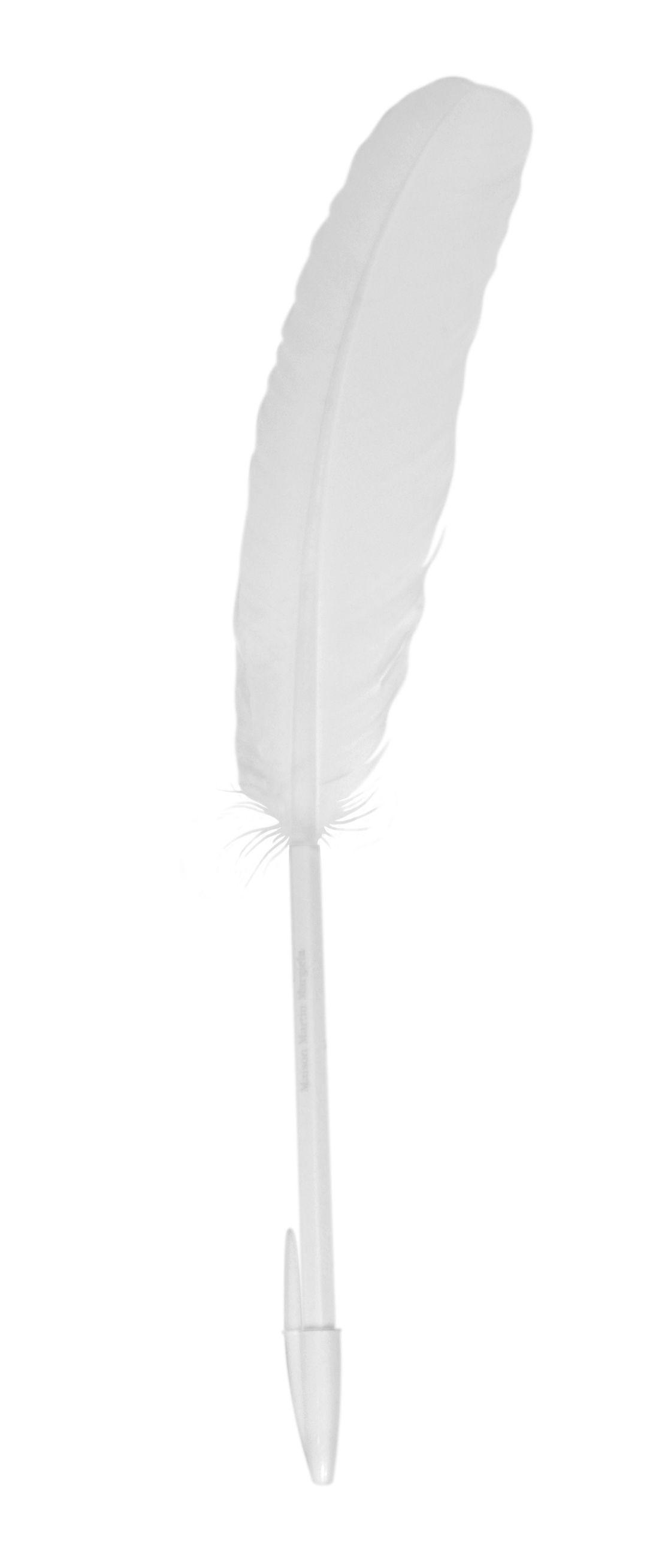 Déco - Accessoires bureau - Stylo Plume d'oie - Maison Martin Margiela - Blanc - Plastique, Plume