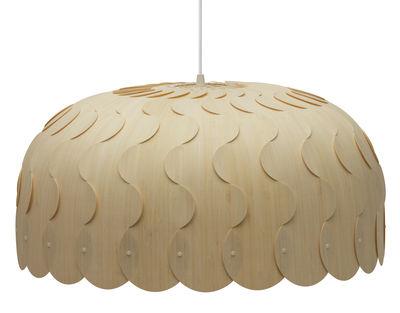 Suspension Beau / Large - Ø 75 cm - David Trubridge bois naturel en bois