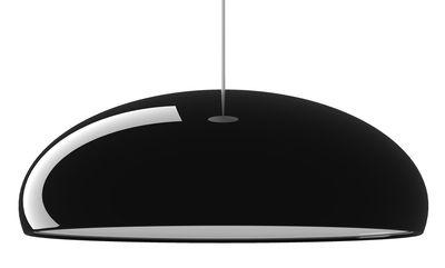 Luminaire - Suspensions - Suspension Pangen - Fontana Arte - Noir / Int. Blanc - Aluminium laqué, Métal chromé, Polycarbonate
