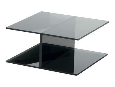 Table basse I-Beam / 60 x 60 cm - Glas Italia gris/noir en verre