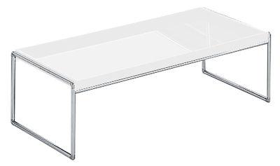 Table basse Trays rectangulaire - 80 x 40 cm - Kartell blanc en matière plastique