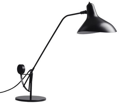 Lighting - Table Lamps - Mantis BS3 Table lamp by DCW éditions - Schottlander - Black / Black lampshade - Aluminium, Steel