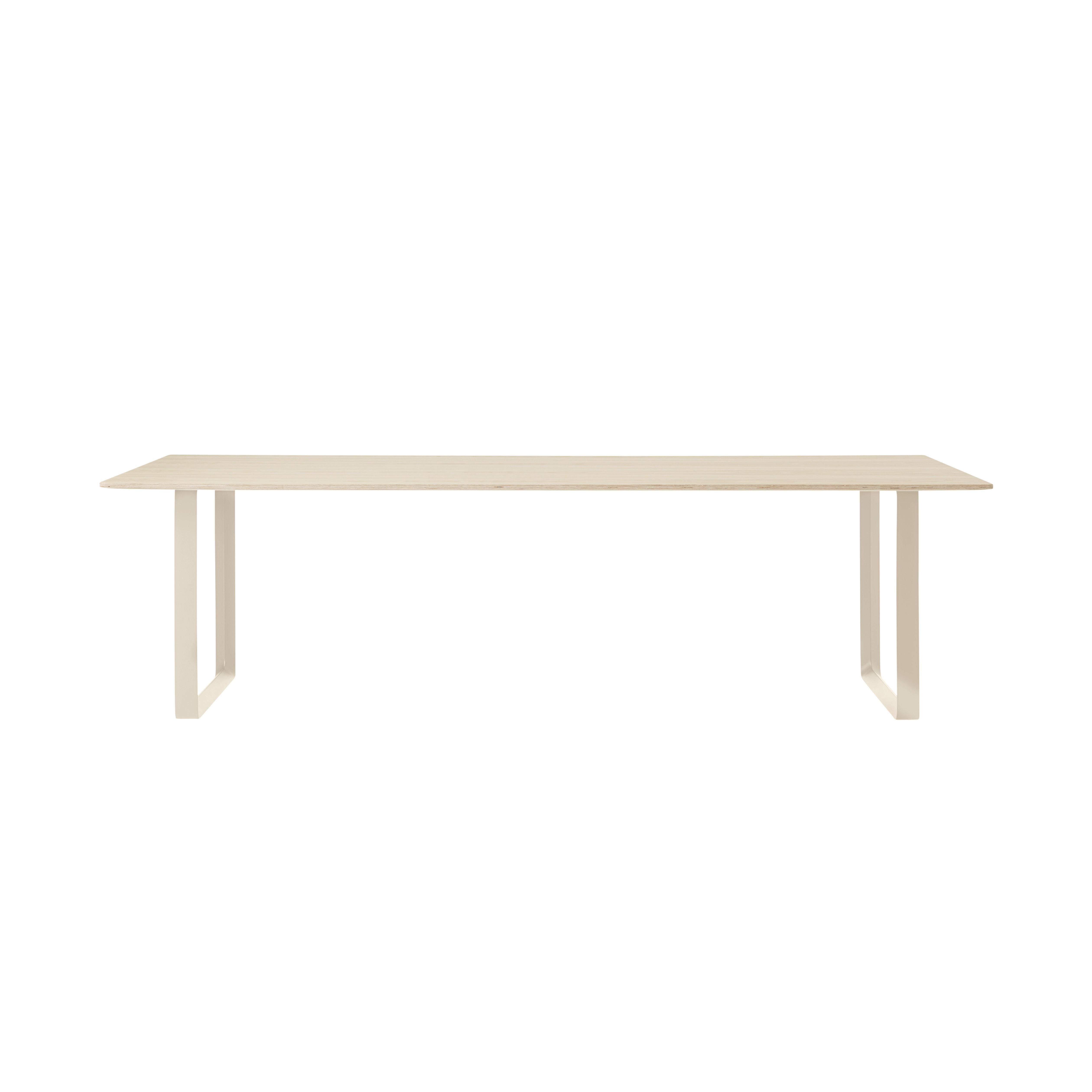 Table rectangulaire 70-70 XL / 255 x 108 cm - Chêne massif - Muuto bois naturel en bois