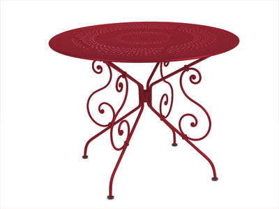 Table ronde 1900 Fermob - Rouge | Made In Design
