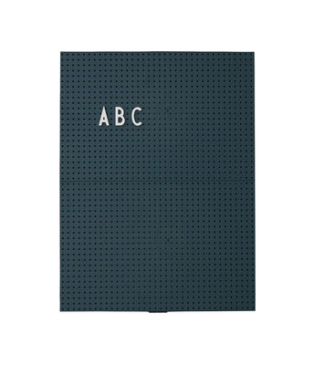 Dekoration - Memos, Magnettafel und Kalender - A4 Memo board / L 21 cm x H 30 cm - Design Letters - Dunkelgrün - ABS