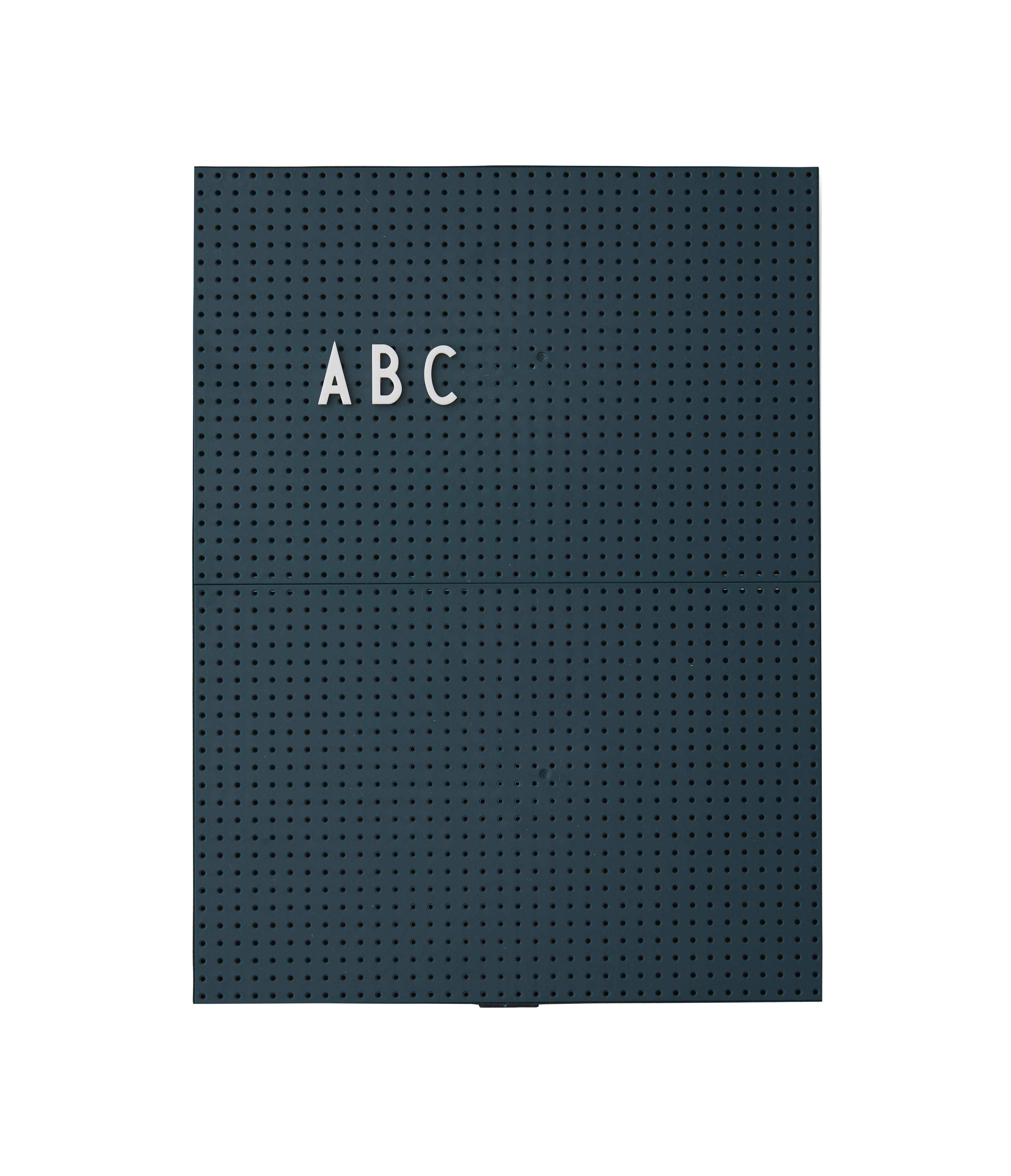 Déco - Mémos, ardoises & calendriers - Tableau memo A4 / L 21 x H 30 cm - Design Letters - Vert foncé - ABS