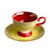 Tasse à espresso Grandma / Set de 4 - Avec soucoupes - Pols Potten