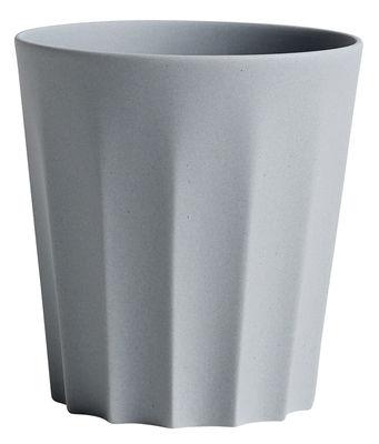 Tasse Iris / Facetté - Fait main - Hay gris en céramique