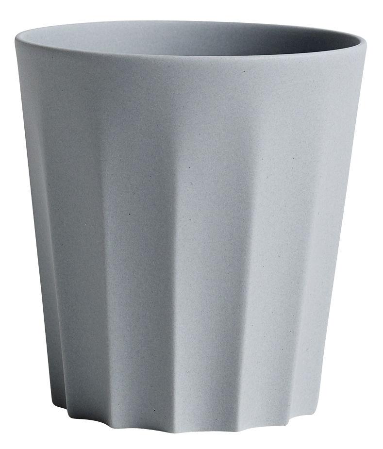 Arts de la table - Tasses et mugs - Tasse Iris / Facetté - Fait main - Hay - Facetté / Gris - Porcelaine