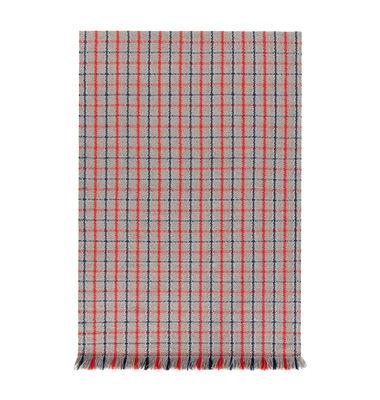 Garden Layers Teppich / 90 x 200 cm - Gan - Blau,Rot,Grau