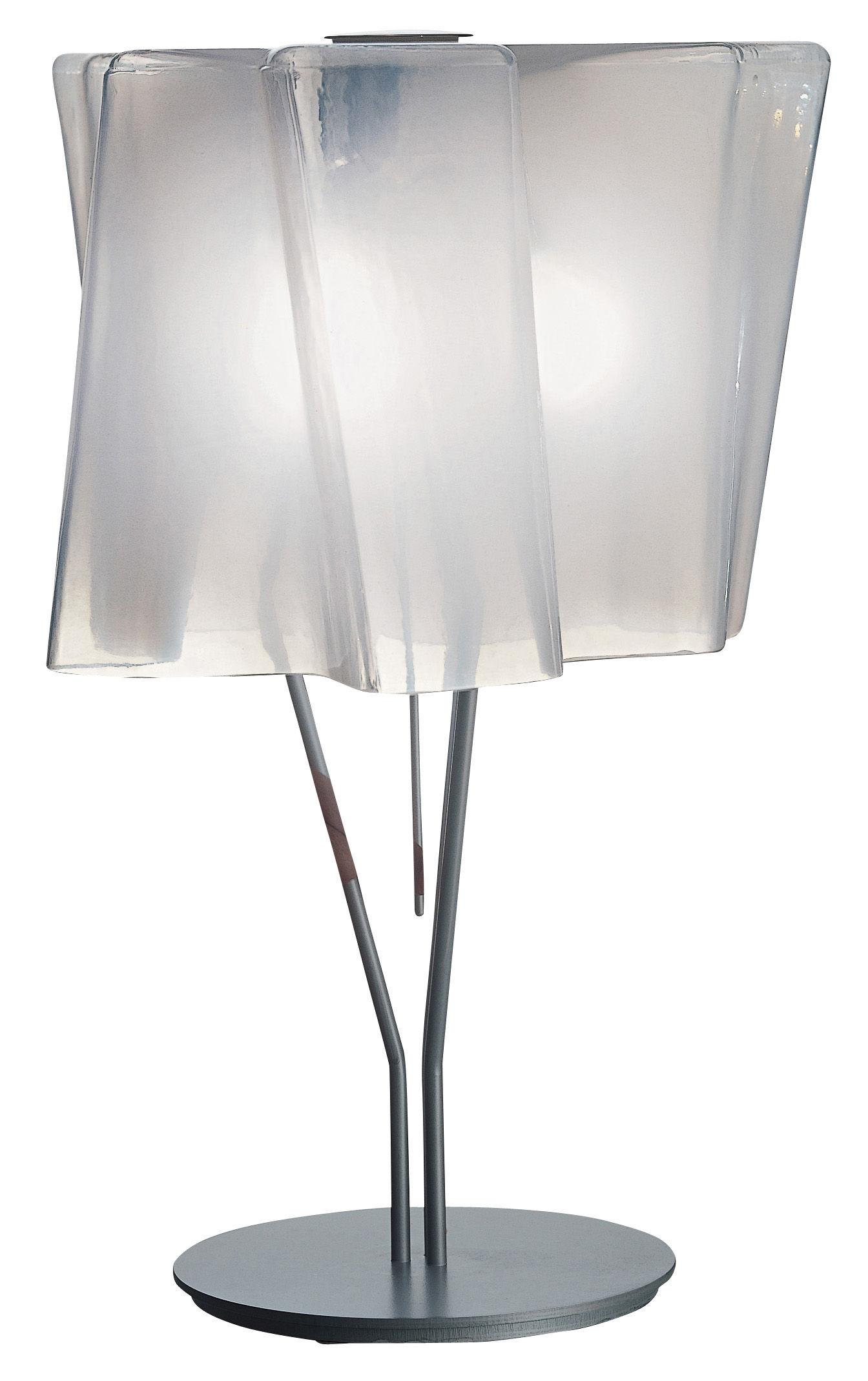 Leuchten - Tischleuchten - Logico grande Tischleuchte - Artemide - Weiß - H 64 cm - geblasenes Glas, lackiertes Metall