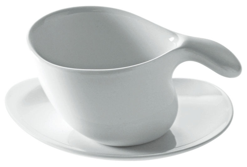 Tischkultur - Tassen und Becher - Untertasse für Tee- und Kaffeetassen aus der Kollektion Bettina - Alessi - Weiß - Porzellan