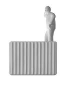 Accessoire / Homme debout n° 2 - Pour applique Umarell - Karman blanc mat en céramique