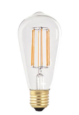 Ampoule LED filaments E27 ST64 / 6W (60W) - Pop Corn or,transparent en verre