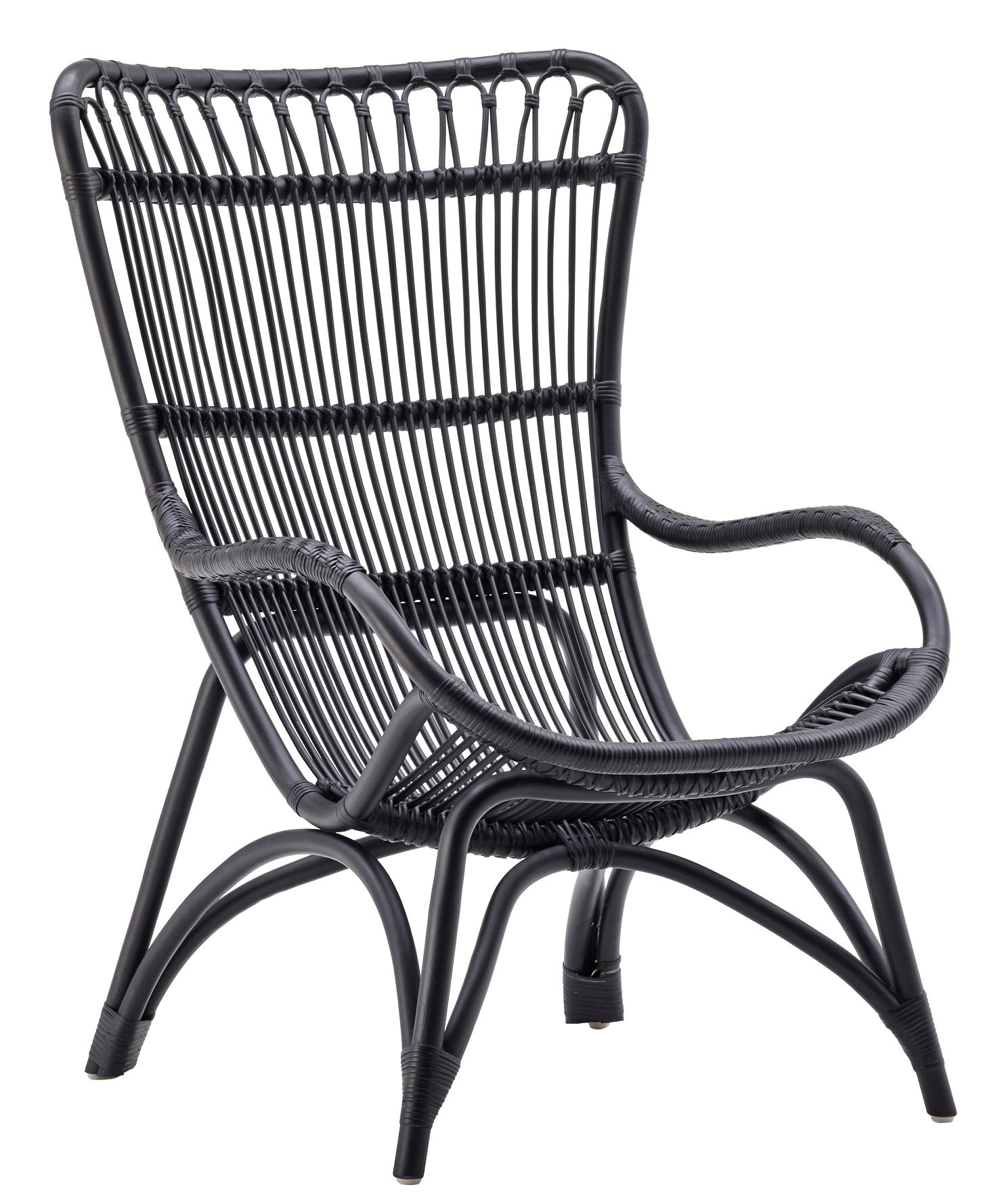Furniture - Armchairs - Monet Armchair by Sika Design - Black - Rattan