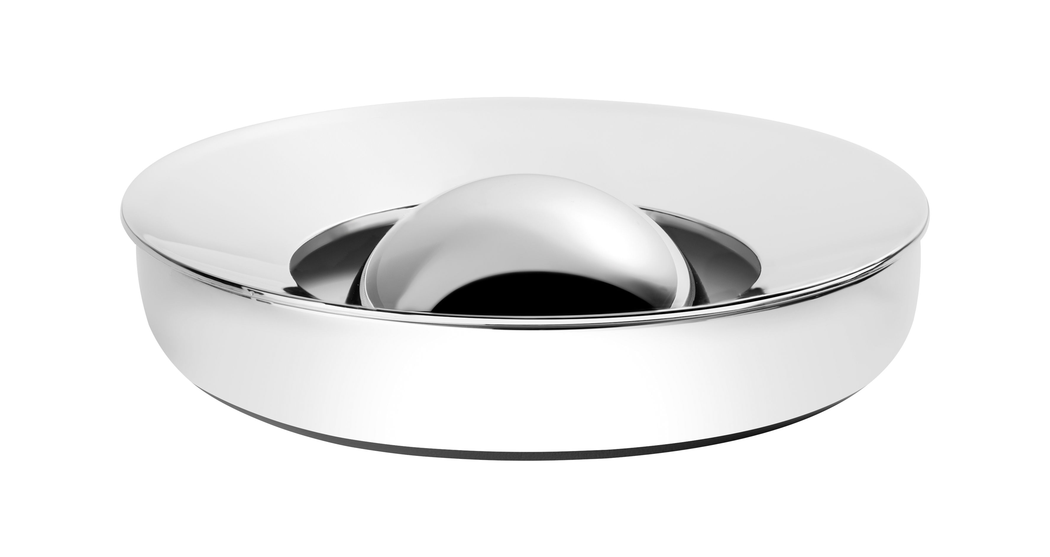 Accessories - Desk & Office Accessories - Oh Ashtray - Ø 9,2 cm by Christofle - Polished steel - Polished steel