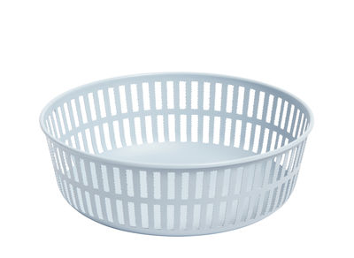 Decoration - Centrepieces & Centrepiece Bowls - Panier Basket - / Ø 22 cm - Steel by Hay - Light blue - Steel