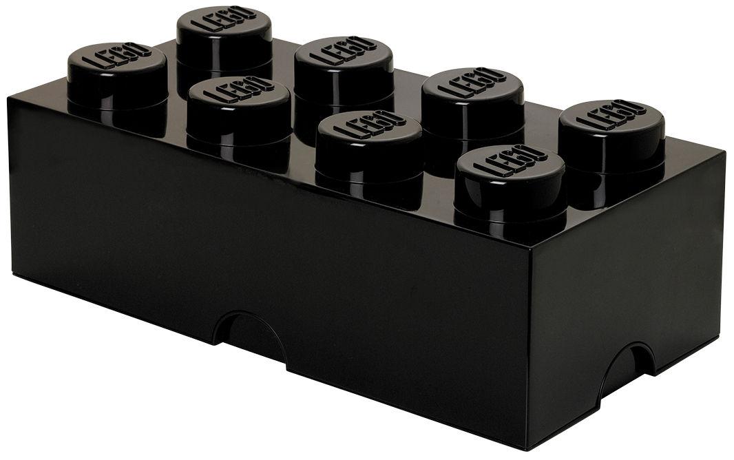 Déco - Pour les enfants - Boîte Lego® Brick / 8 plots - Empilable - ROOM COPENHAGEN - Noir - Polypropylène