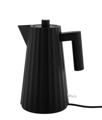 Bollitore elettrico Plissé - / 1,7 L di Alessi - Nero - Materiale plastico