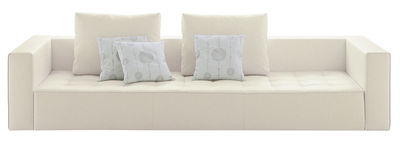 Mobilier - Canapés - Canapé droit Kilt / tissu - 3 places - L 234 cm - Zanotta - Tissu - Crème chiné - Tissu