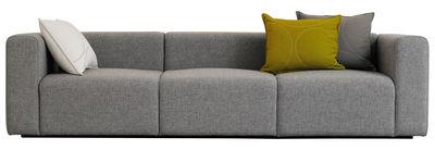 Mobilier - Canapés - Canapé droit Mags 3 places / L 266 cm - Tissu Hallingdal - Hay - Gris clair - Tissu
