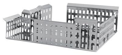Centre de table 100 Piazze Milano - Driade Kosmo gris/argent en métal