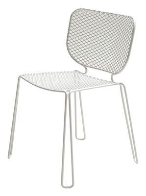 Mobilier - Chaises, fauteuils de salle à manger - Chaise empilable Ivy / Métal - Emu - Blanc - Acier