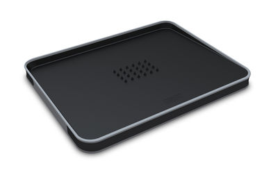 Kitchenware - Cool Kitchen Gadgets - Cut & Carve Chopping board - Large by Joseph Joseph - Black - Polypropylene