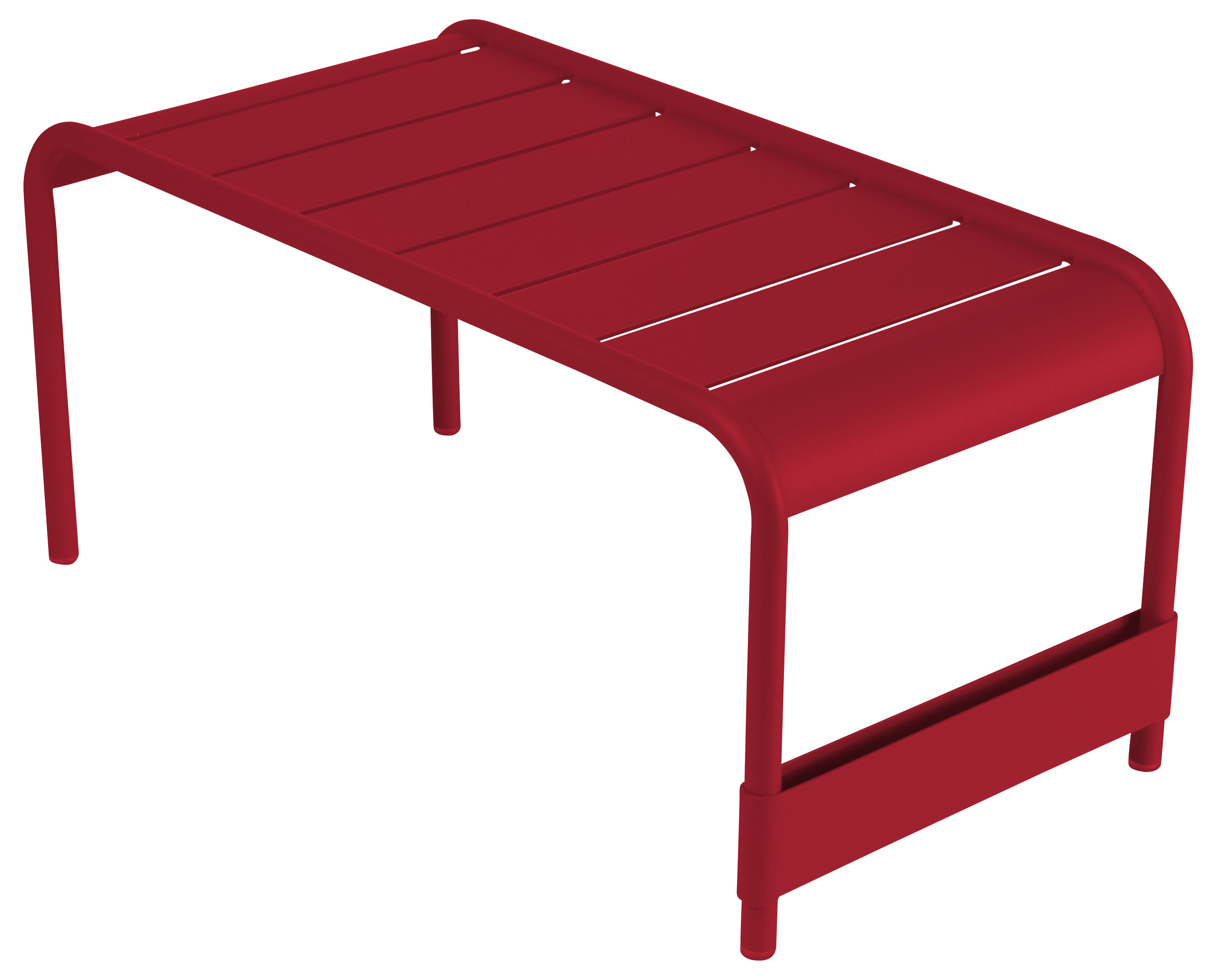 Life Style - Luxembourg Coffee table - L 86 cm by Fermob - Chili - Lacquered aluminium