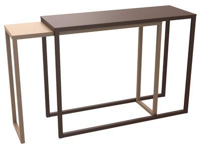 Console Burga coulissante / Longueur 100 à 200 cm - Matière Grise marron,sable en métal
