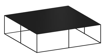 Möbel - Couchtische - Slim Irony Couchtisch / 124 x 124 x H 34 cm - Zeus - Schwarzbraun - bemalter Stahl