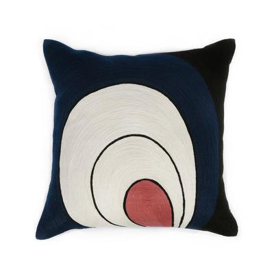 Decoration - Cushions & Poufs - Paon Cushion - / 42 x 42 cm by Maison Sarah Lavoine - Midnight blue - Cotton