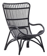 Chaise Monet Sika Design noir en fibre végétale