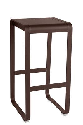 Furniture - Bar Stools - Bellevie High stool - H 75 cm / Aluminium by Fermob - Rust - Painted aluminium