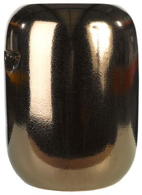 Möbel - Hocker - Pill Hocker / Keramik - H 44 cm - Pols Potten - Kupfer - Céramique vitrifiée