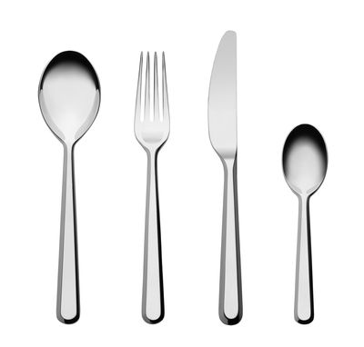 Tableware - Cutlery - Amici Kitchen cupboard - / 6 people - 24 pieces by Alessi - Steel - Stainless steel