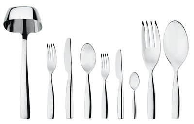 Tableware - Cutlery - Dressed Kitchen cupboard - 75 pieces by Alessi - Mirror - 75 pieces - Stainless steel